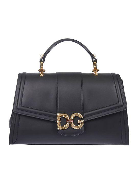Dolce & Gabbana Embellished Logo Plaque Tote