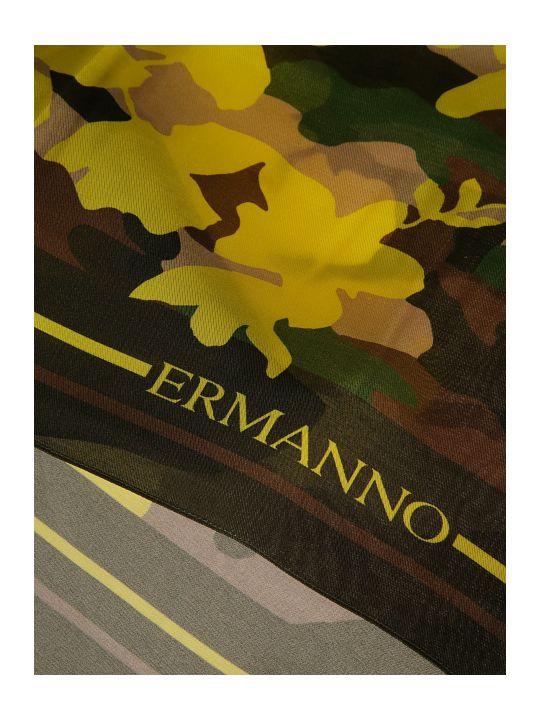 Ermanno Scervino Camo Print Scarf