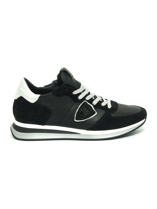 Philippe Model Tropez X Sneaker In Black Leather