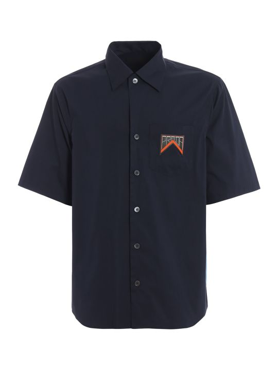 Prada Logo Patched Shirt