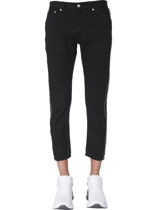 Alexander McQueen Jeans With Side Zips