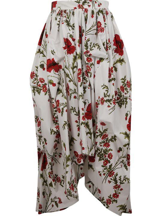 Alexander McQueen Floral Print Skirt