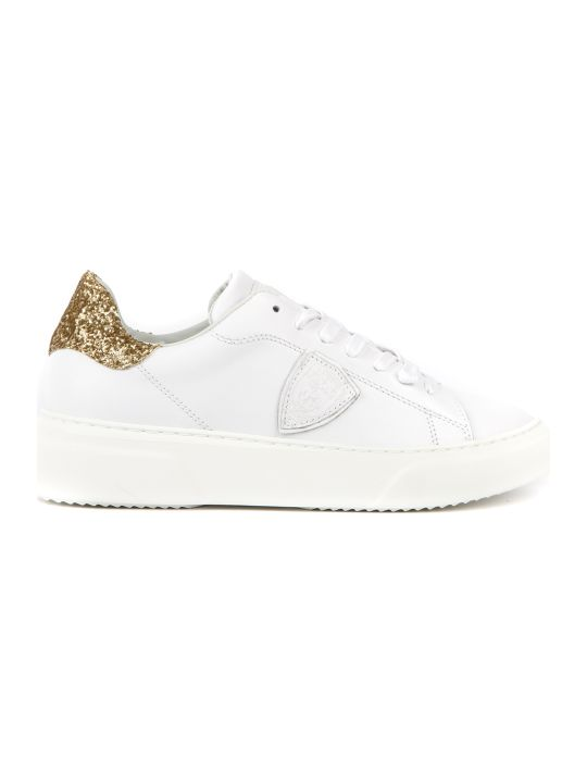 Philippe Model Temple White Leather Sneakers