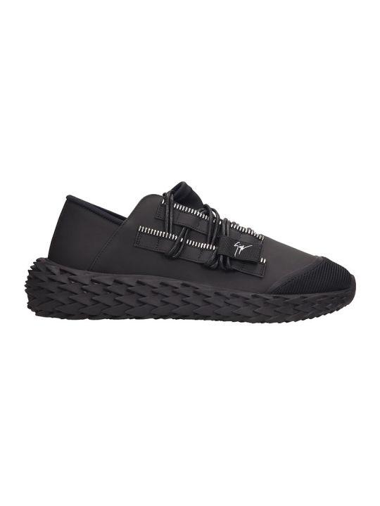 Giuseppe Zanotti Urchin  Sneakers In Black Rubber/plasic