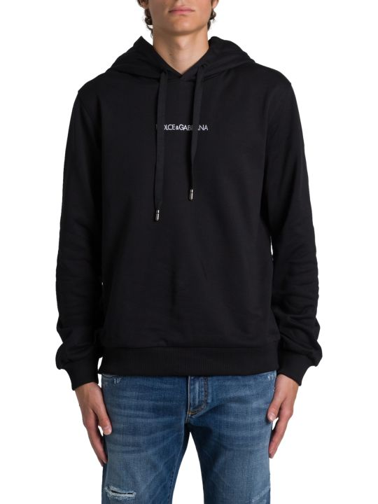 Dolce & Gabbana Hoodie With Embroidered Logo