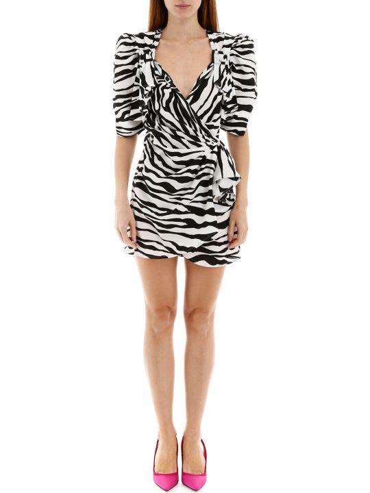 The Attico Zebra Print Mini Dress
