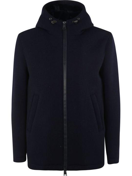 Herno Woven Zipped Hooded Jacket