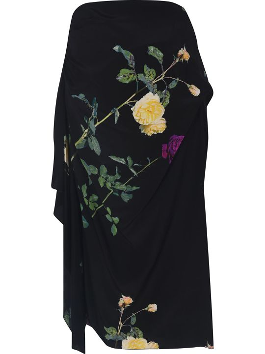 Dries Van Noten Flower Draped Skirt