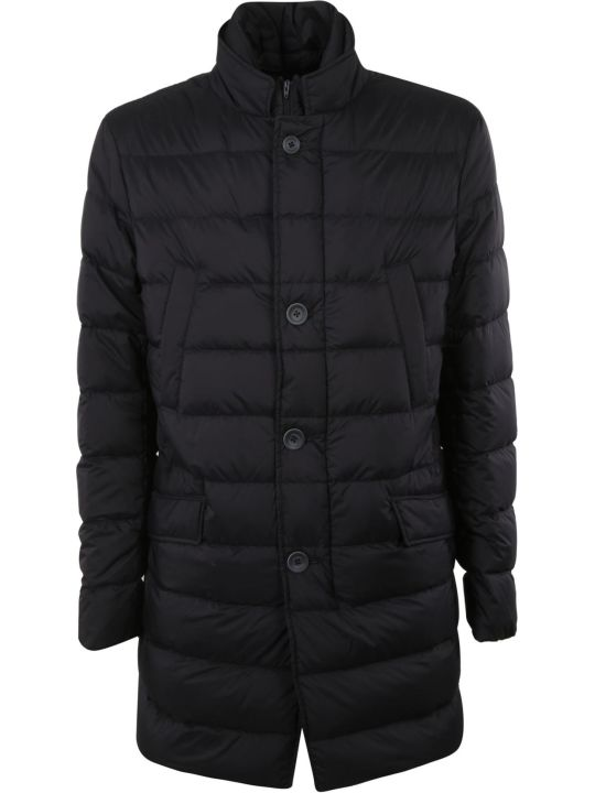 Herno Woven Straight Buttoned Padded Jacket