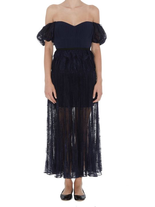 self-portrait Midi Lace Dress