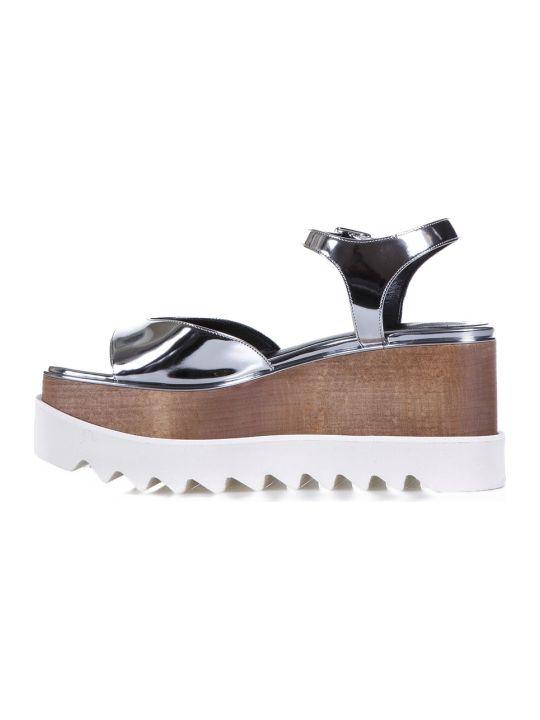 2d0232f1b20a Stella McCartney Stella McCartney Elyse Faux Metallic Leather Sandals -  Silver - 10518041