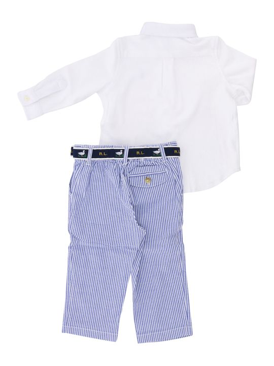 Polo Ralph Lauren Shirt And Trousers Suit