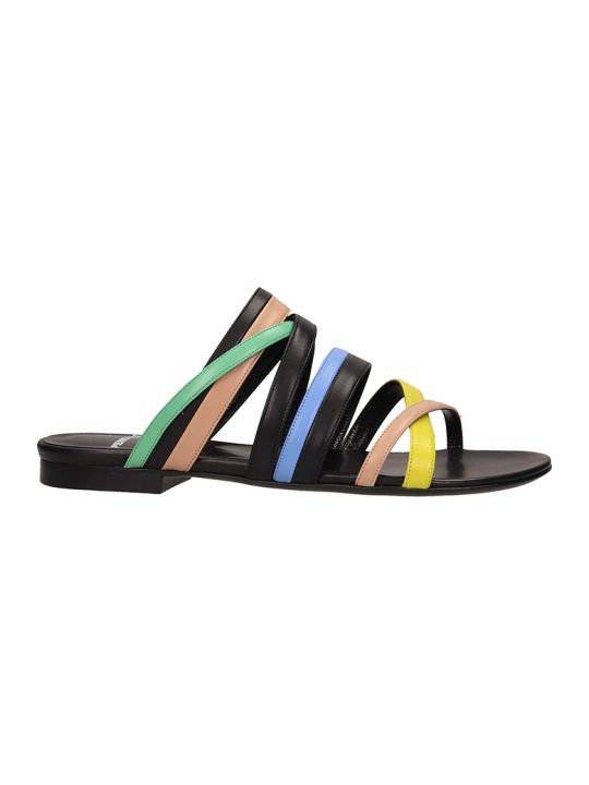 Pierre Hardy Black Leather Alpha Crisscros Sandals