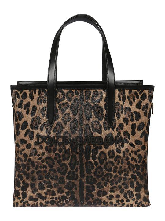 Dolce & Gabbana Leopard Shopper Bag