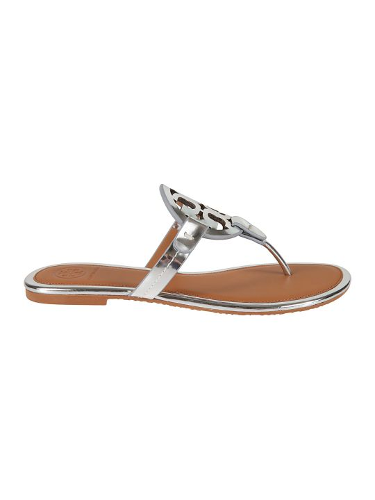 Tory Burch Miller-mirror Metallic Sandals