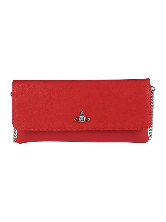 Vivienne Westwood Logo Cluthc Bag