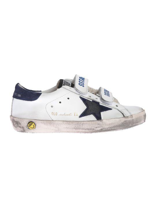 Golden Goose Kids White Navy Stars