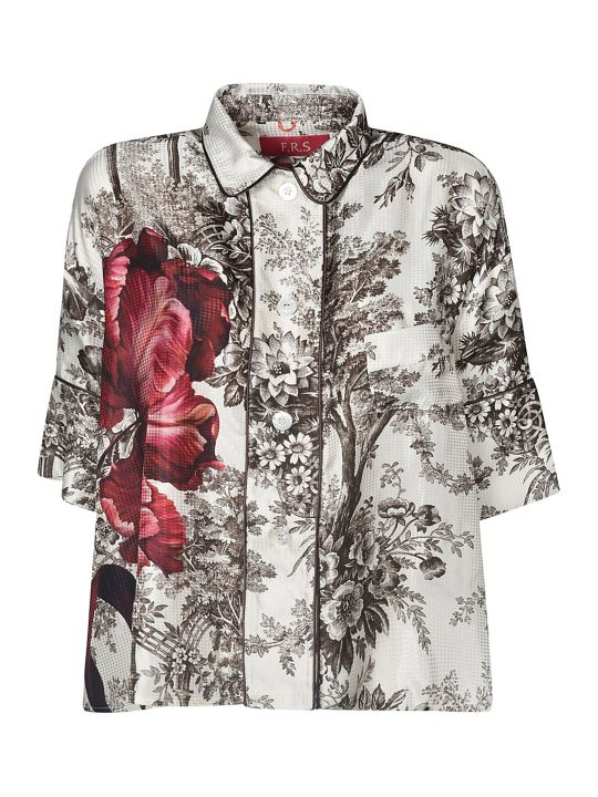 For Restless Sleepers Floral Print Cropped Shirt