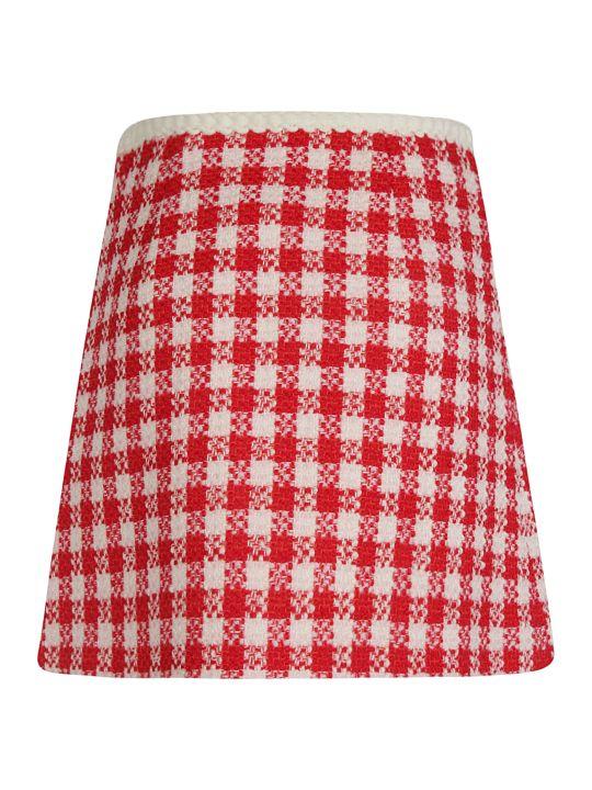 Miu Miu Checked Skirt