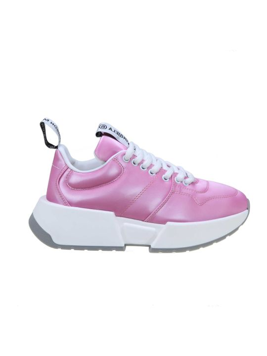 MM6 Maison Margiela Leather Sneakers Fucsia Color
