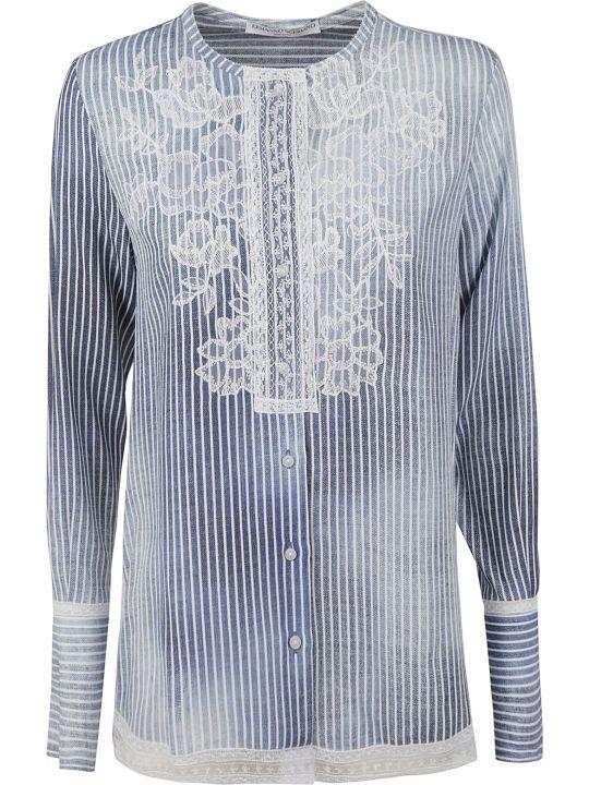 Ermanno Scervino Embroidered Stripe Shirt