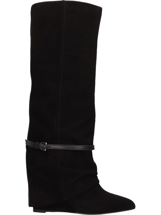The Seller Black Suede Boots