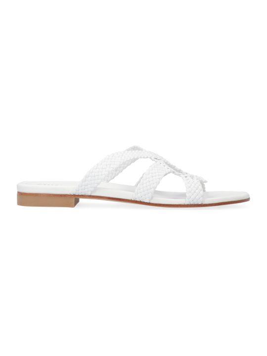 Stuart Weitzman Sarita Leather Sandals