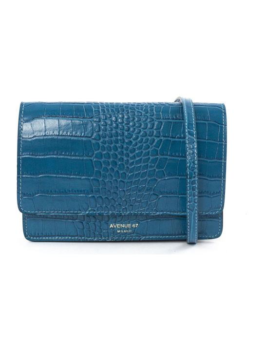 Avenue 67 Turquoise Leather Clutch Bag
