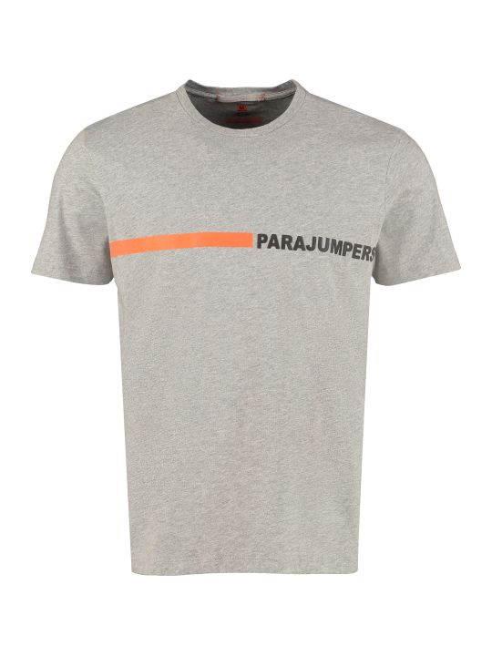 Parajumpers Logo Print Cotton T-shirt