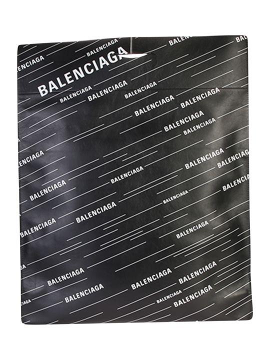 Balenciaga Logo Print Leather Shopper