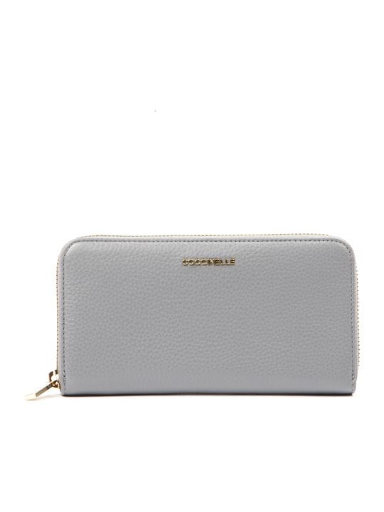 Coccinelle Metallic Soft Glass Leather Wallet