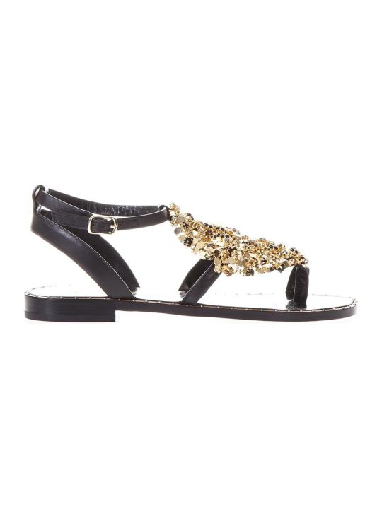 Lola Cruz Luanda Ii Black Leather Sandals