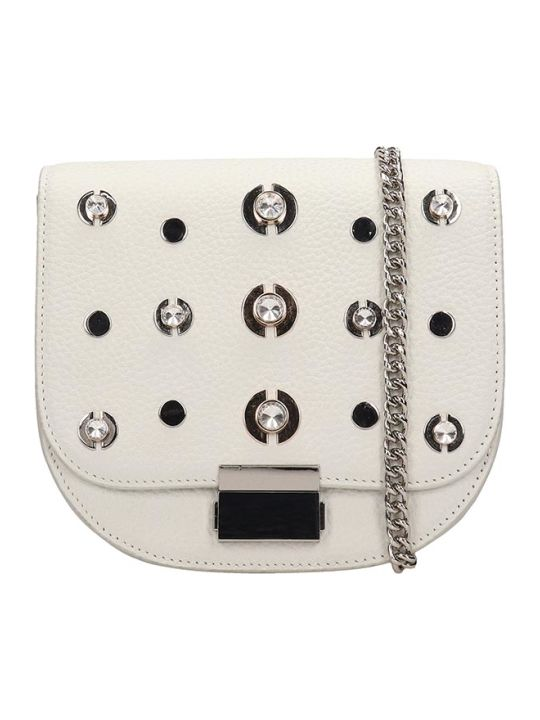 Lola Cruz Guss White Leather Bag