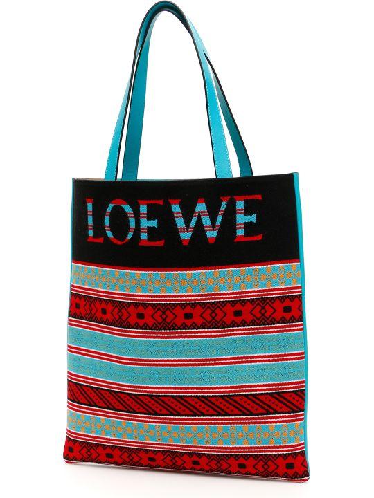 Loewe Vertical Knit Tote Bag
