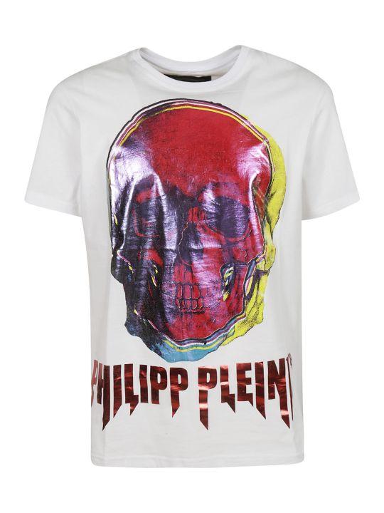 Philipp Plein Logo Skull Print T-shirt
