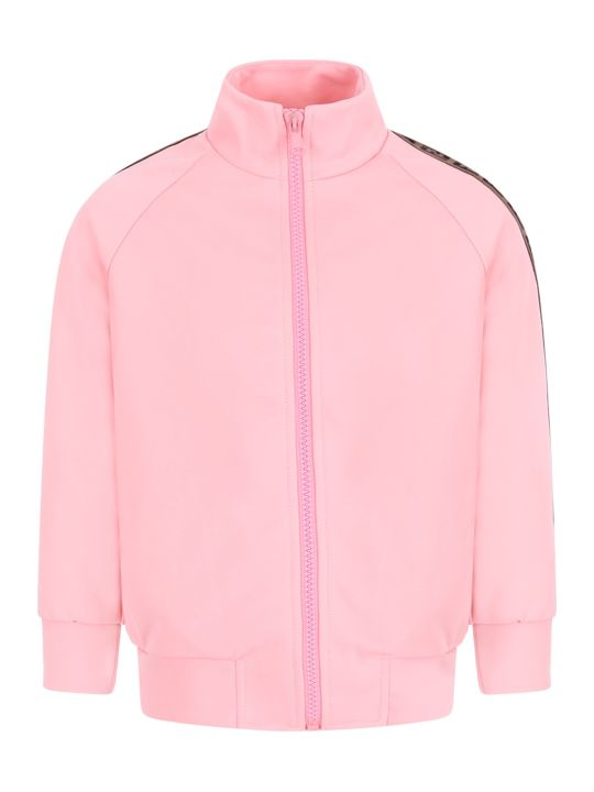 buy online 245f1 e837d Best price on the market at italist | Fendi Fendi Pink Girl Sweatshirt With  Iconic Double Ff