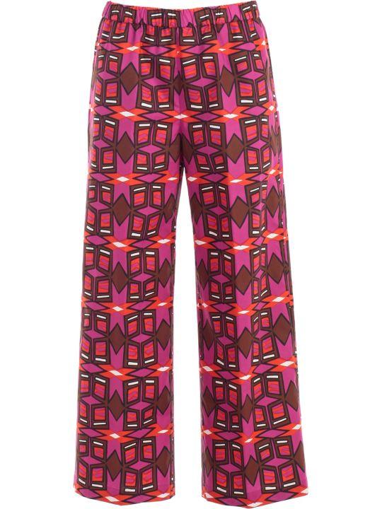 Aspesi Pants Elastic Waist W/print