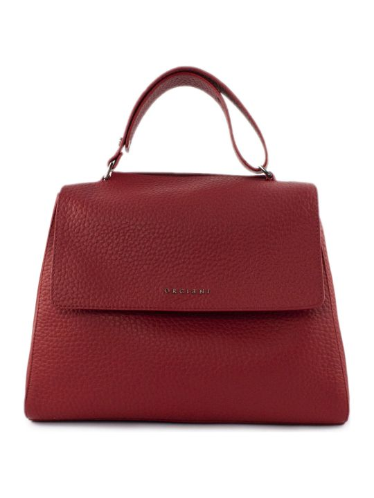 Orciani Red Leather Sveva Bag