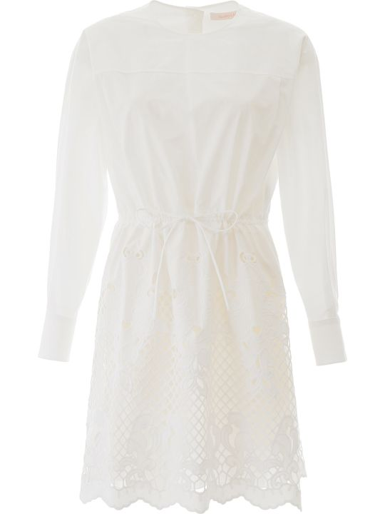 See by Chloé Dress With Lace Hem