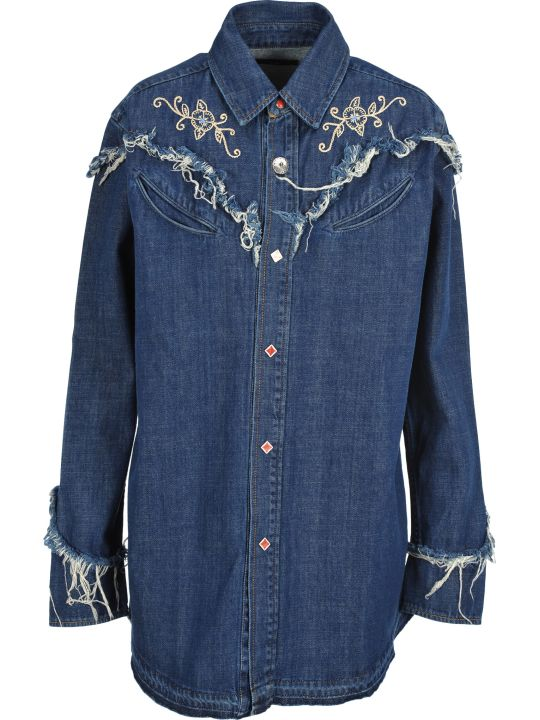 Alanui Alanui Embroidered Denim Shirt