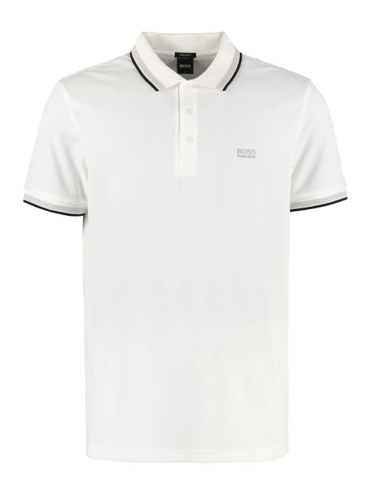 BOSS Black Cotton Piqué Polo Shirt