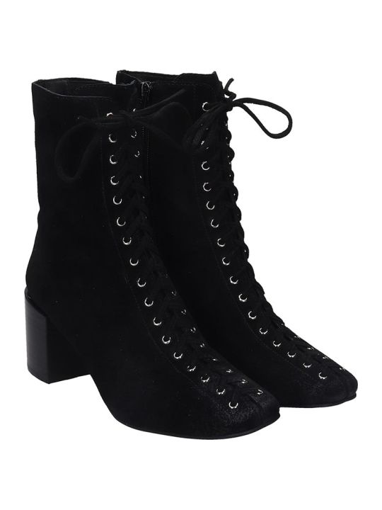 Jeffrey Campbell Belmondo High Heels Ankle Boots In Black Suede