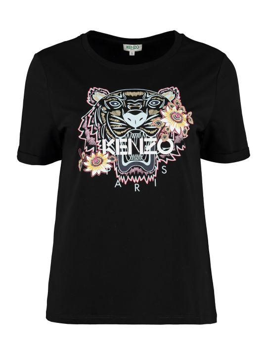 Kenzo Passion Flower Crew-neck Cotton T-shirt