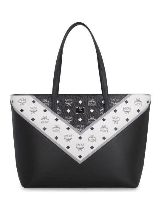 MCM Visetos Fabric Tote Bag