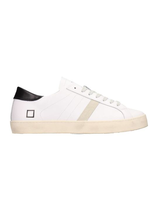 D.A.T.E. White And Black Leather Sneakers
