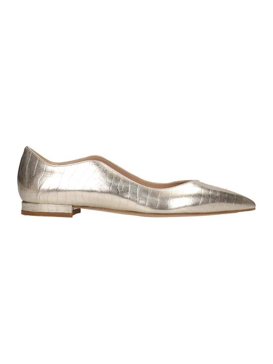 The Seller Ballet Flats In Platinum Leather