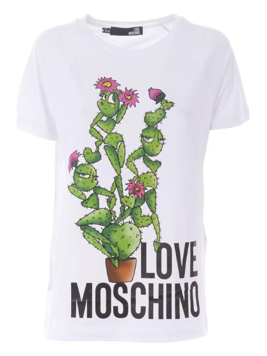 Love Moschino Cactus Print T-shirt