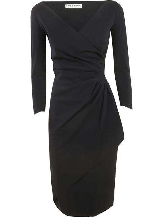 La Petit Robe Di Chiara Boni Chiara Boni Draped Long-sleeved Dress
