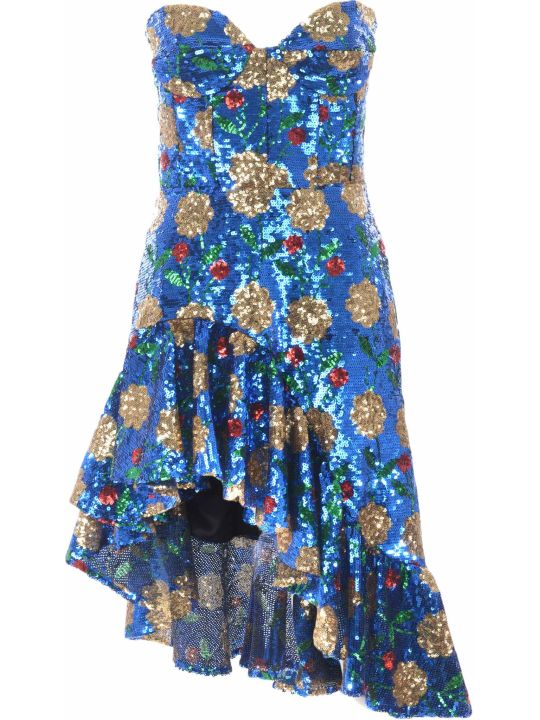 Giuseppe di Morabito Floral Sequin Dress