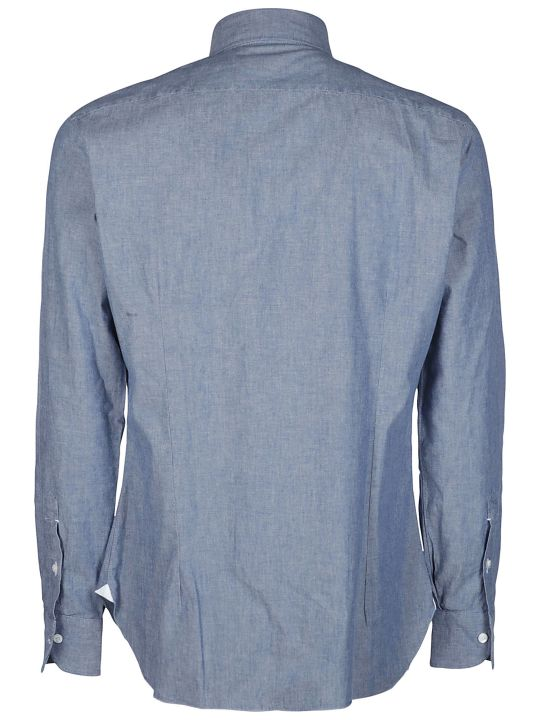 Barba Napoli Blue Cotton Shirt